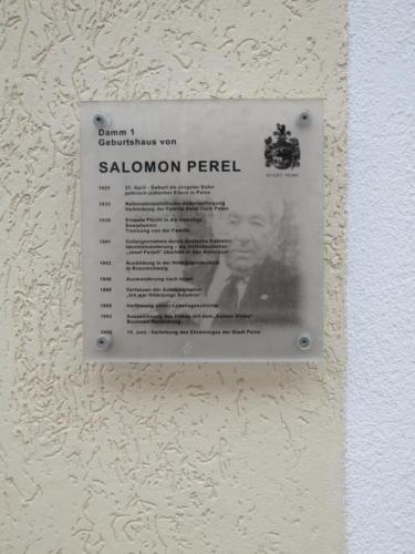 Gedenktafel für Salomon Perel